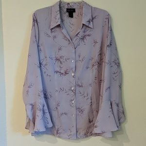 Lane Bryant blouse with bell sleeves